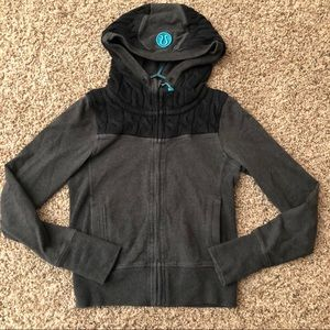 Lululemon Cable Knit Scuba Zip Up Hoodie